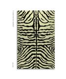 RugStudio presents The Rug Market America Resort Zebra Brown 25219 Brown/cream Hand-Hooked Area Rug